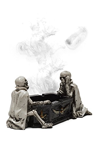Affordable Halloween Decorations (Skull Ashtray Scary Halloween Decoration Skeleton Figurines Accessories Smoking (Ivory, Black, Companions))