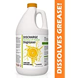 DISCHARGE DEGREASER | Industrial Strength Pure Orange Oil D-Limonene Cleaner for Grease Traps & Floating Lift Stations (1 Gallon)