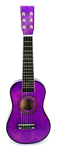 Acoustic Classic Rock 'N' Roll 6 Stringed Toy Guitar Musical Instrument w/ Guitar Pick, Extra Guitar String (Purple) by Velocity Toys