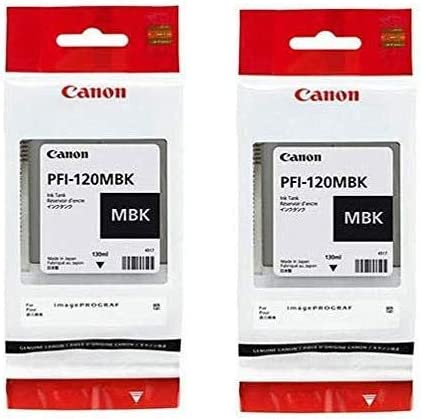 Matte Black, 2-Pack in Retail Packaging Canon PFI-120 Pigment Ink Tank