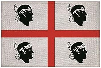 U24 Aufnäher Sardinien Fahne Flagge Aufbügler Patch 9 X 6 Cm Auto