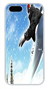 Beautiful Type White Pc For Iphone 5C Phone Case Cover - Interesting Skiing - Glove