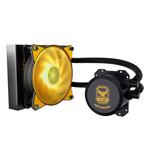 Cooler Master MLW-D12M-A20PW-RT MasterLiquid Lite ML120L TUF Edition RGB AIO CPU Liquid Cooler 120mm RGB Air Balance MF Dual Dissipation Technology