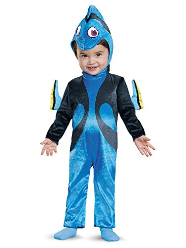 Disney Baby Girls' Finding Dory Costume, Blue, 12-18 Months (Blue Peter Halloween Costume)