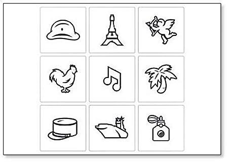 Juego de símbolos e iconos de Francia, ilustración, imán clásico ...