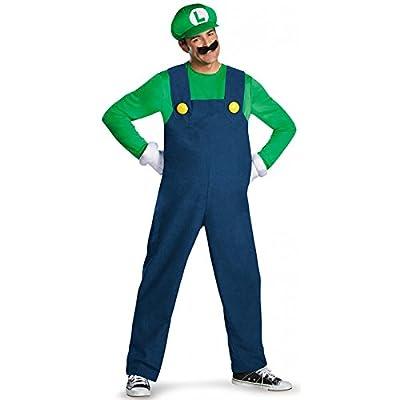 Disguise Super Mario Luigi Deluxe Mens Adult Costume