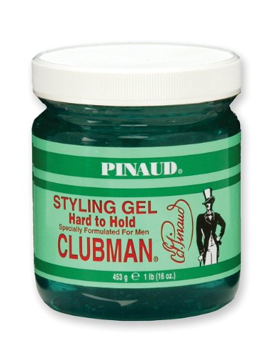 (Clubman Pinaud Hard To Hold Styling Gel Specially Formulated for Men, 16-Ounce (Pack of 3) )