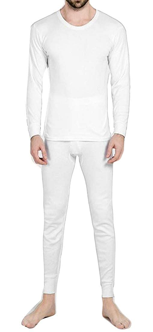 Joe Wenko Mens Cotton Ultra Soft Underwear Thermal LongJohns Set