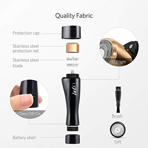 Facial Hair Removal, I.FM Waterproof Painless Flawless Hair Remover Miniature Female Facial Hair Remover by I.FM (Image #1)