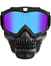PiscatorZone Motorcycle Goggles Skull Face Mask Paintball Ski&Riding Halloween