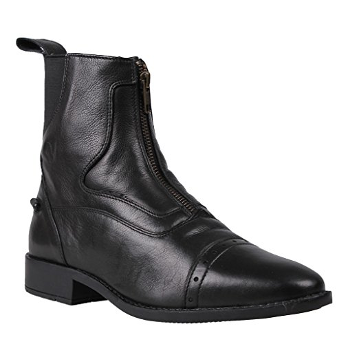 Ankle Milaan Leather Black Winter Boots Jodhpur QHP S5Hvqwa5