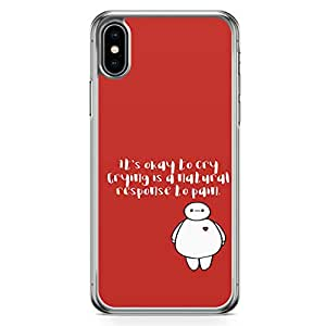 Loud Universe Big Brother Quote iPhone XS Case OK to cry Big Brother iPhone XS Cover with Transparent Edges