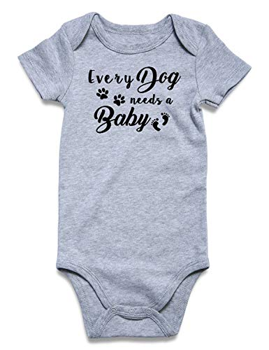 Baby Bodysuit Every Dogs Need A Baby Cute Printed Custom Infant Romper Jumpsuit Lovely Baby Saying Toddler Outfits(3-6Months) -