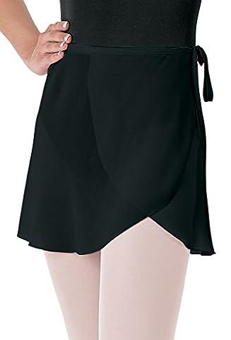 Balera Skirt Girls Wrap For Ballet Dance Georgette Tie Waist Black Adult Small - Capezio Wrap Skirt