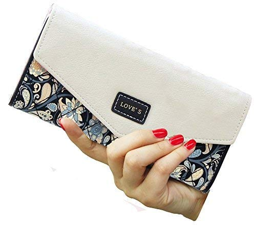 SeptCity Womens Wallet Floral Leather Western Bifold Clutch, -