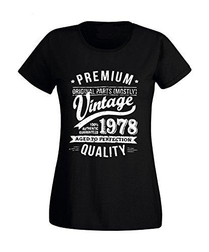 L'Anno Che 40 comunica 50 Desideri Anni Vintage contatta 60 Quality Compleanno Nero Premium T Il Tramite 1958 Regalo 30 Sorrydenti 1978 Festa Shirt 1968 35 Venditore wHUqOv