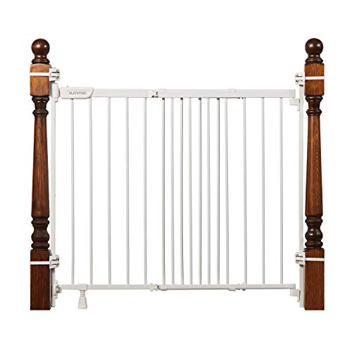 Summer Infant 27903Z Banister & Stair Safety Gate with Extra Wide Door, Metal, 31