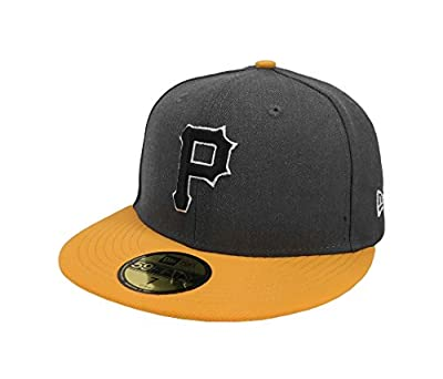 New Era 59Fifty Hat MLB Pittsburgh Pirates Shader Melt 2 Charcoal/Gold Cap