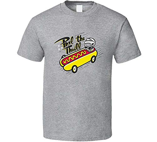 DePeal Phil The Thrill Phil Kessel Funny Hotdog Hockey Sport T-Shirt Grey