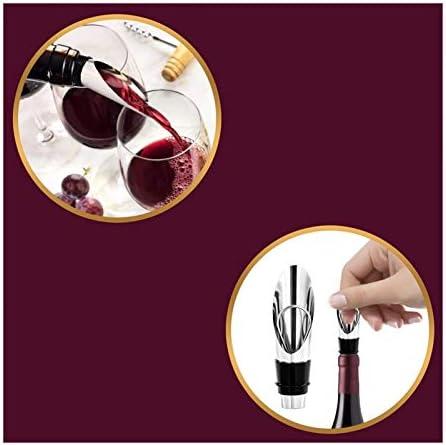 Abre de vino de sacacorchos con estuche de cuero profesional Sacacorchos Botella abrelatas 3-en-1 camareros Sacacorchos Regalo para manos artríticas Refrigerador Bartenders Pared hombres mujeres