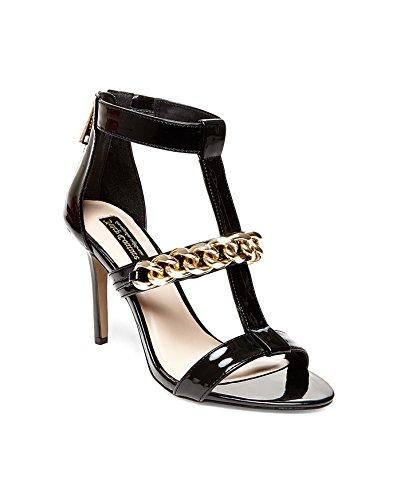 Juicy Couture Avita - Sandalias de vestir, Mujer, Multicolor (pitch black patent), 40