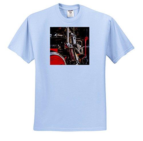 Transport Railroad - Driving Gear Of a Steam Locomotive. Stylized Photo - T-Shirts - Adult Light-Blue-T-Shirt Small (TS_270617_50) ()