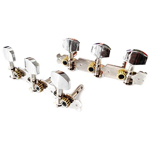 Kmise A1072 1 Set of 3L3R Classic Guitar Tuning Pegs Machine Heads Tuners (Classical Guitar Machine Heads)