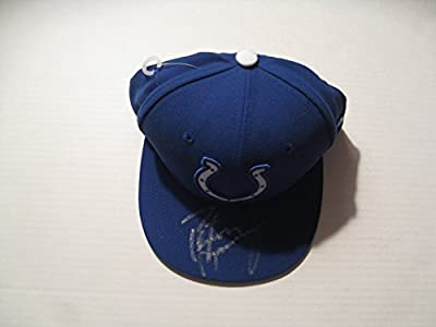 Peyton Manning autographed/Signed Indianapolis Colts Hat COA