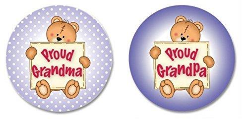 Proud Grandma and Grandpa Button Set (2 Pieces) ()