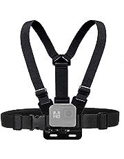 حزام الصدر قابل للتعديل لتعليق كاميرا جو برو هيرو 9 وهيرو 8 وهيرو 7 وكاميرا SJCAM وكاميرا واي اي اكشن من او اوزون - اسود