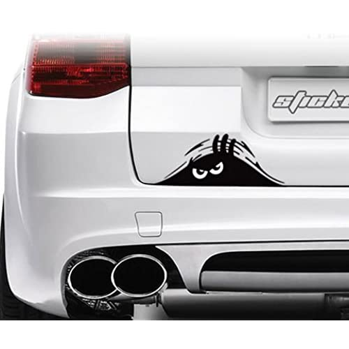 Jackey awesome 1 x peeking monster scary eyes car decal sticker for laptop ipad window wall car truck motorcycle theft black