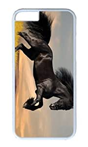 Adorable Black stallion Hard Case Protective Shell Cell Phone Cover For Apple Iphone 6 Plus (5.5 Inch) - PC White by icecream design