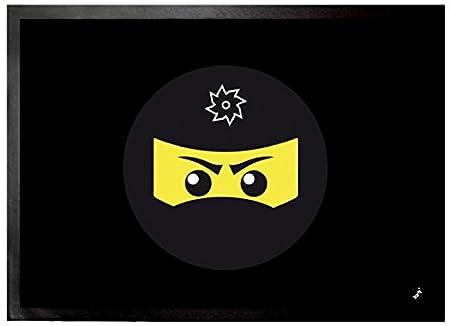 1art1 Gaming - Icono Ninja, Negro Felpudo Alfombra (70 x ...