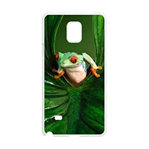 Green leaves and unique frog Cell Phone Case for Samsung Galaxy Note4 by Maris's Diary