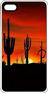 MMZ DIY PHONE CASEArizona Desert Cactus Sunset White Plastic Case for Apple ipod touch 5