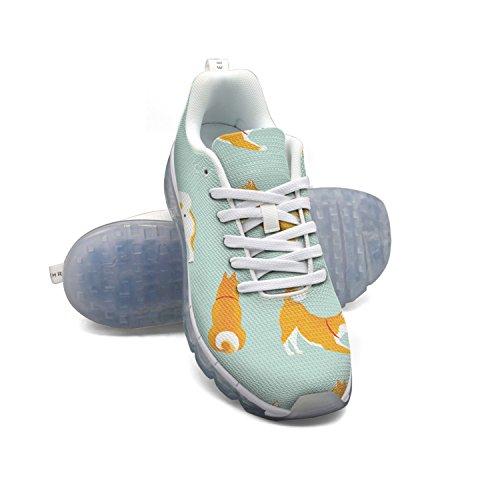 Faaerd Akita Hund Dejlige Mønster Mænds Mode Letvægts Mesh Luft Pude Sneakers Travesko MKEyzhpxmJ