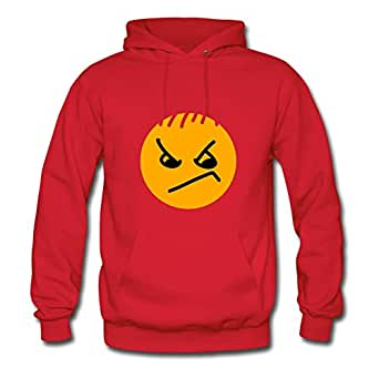 X-large Red O-neck Puzzle Smile Hoody By Sarahdiaz - Women