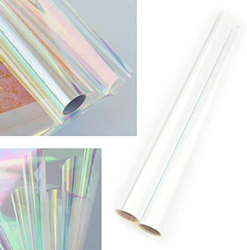 Cellophane Wrap Roll Rainbow | 35? Ft. Long X 20? in. Wide | 2.3 Mil Thick Rainbow Multi-Color | Gifts, Baskets, Treats, Cellophane Wrapping Paper | Christmas