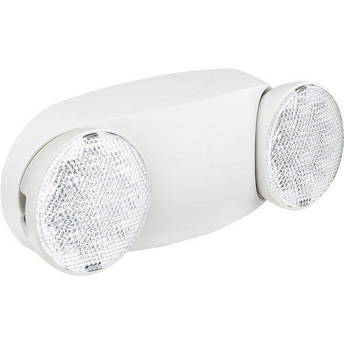 2 Head Led Emergency Light Adjustable Optics Ni-Cad Battery Backup by Global Industrial (Image #1)