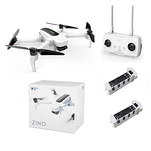 Hubsan Zino Brushless WiFi FPV Drone Foldable Arm Quadcopter 1KM with 4K UHD Camera 3-Axis Gimbal RTF with Extra Battery