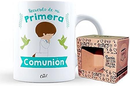 Mr Cool Taza 33 cl en Caja Regalo con Mensaje Recuerdo de mi Primera Comunión-Niño, Cerámica, Multicolor, 15x10x5 cm: Amazon.es: Hogar
