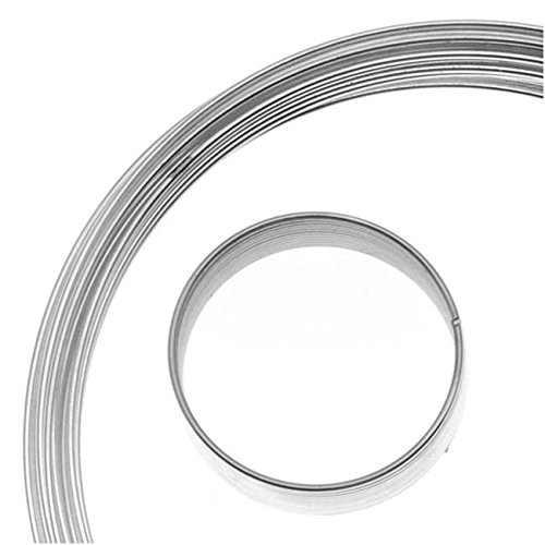 BeadSmith Assorted Memory Wire - Silver Plated - 10 Loops Per - Wire Necklace Memory Plated