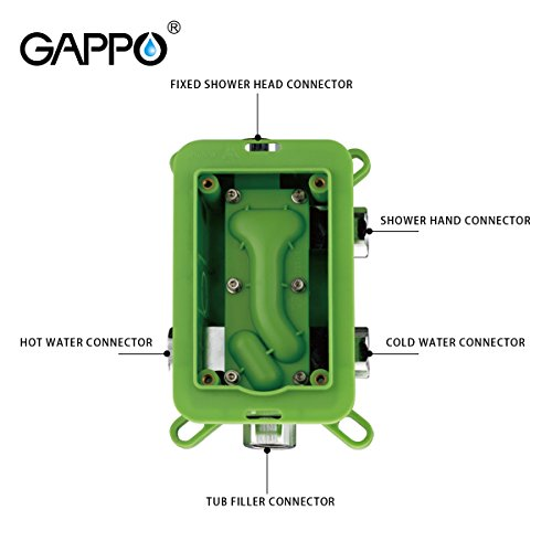 GAPPO Luxury Rain Shower System Kit with Handheld Shower and Tub Spout Tap Polished Chrome by GAPPO (Image #4)