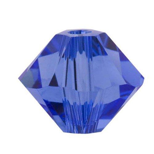 Swarovski Crystal, 5328 Bicone Beads 3mm, 25 Pieces, Sapphire
