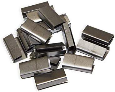 500 unidades Uniones Metálicas para cerrar fleje de plástico. Para fleje de 12 o 13mm.