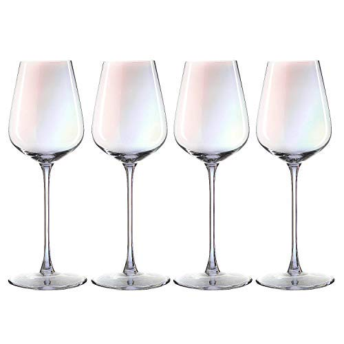 (Iridescent Large Wine Glasses Set - The Wine Savant Whimsy and Nostalgia Large Red Wine or White Wine Glass In An Elegant Gift Box, Make Entertaining An Ethereal Experience)