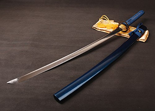 Shijian Japanese Samurai Sword Full Tang Katana 1060 Carbon Steel Sharp Edge Knife
