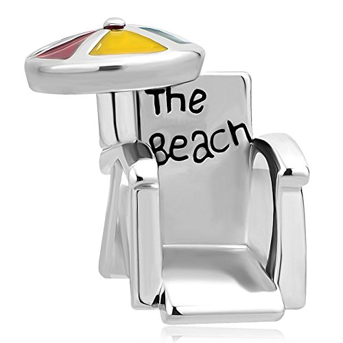 - CharmSStory Beach Chair Umbrella Lucky Charms Beads For Bracelets (Yellow)