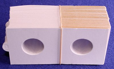1000 2x2 Bulk Supersafe Self-Adhesive Paper Coin Flips for Nickels
