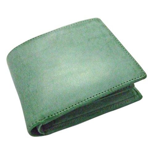 プレリートラディショナルファクトリー イタリーブライドル 二つ折り財布 グリーン   B07BC6193L